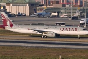 Airbus A321 of Qatar Airways