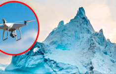 Reporter Uses Drone to Inspect Iceberg and Discover 'Magical' Natural Landscape [VIDEO]