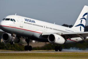 Aegean Airlines plane