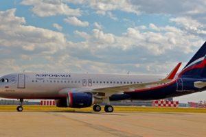 Aeroflot plane landed