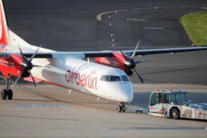 Air Berlin turbodrop plane