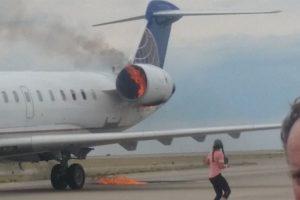 CRJ-700 caught fire