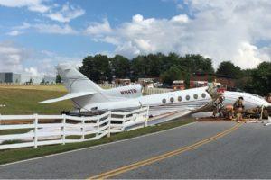 Dassault Falcon 50 runway excursion
