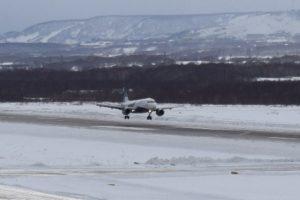 Elizovo airport landing