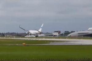 Enter Air plane Boeing 737 hard landing