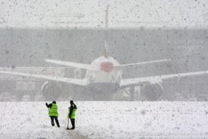 Heathrow airport snow