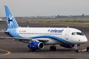 InterJet SSJ 100 plane