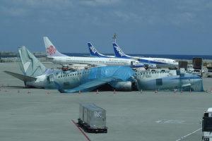 Naha Airport typhoon