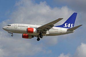 SAS aircraft Boeing 737-683