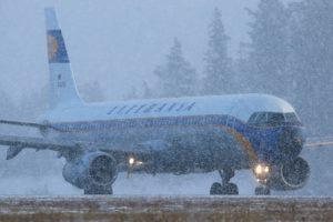 Stockholm airport snow