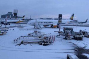 british airports snowfall