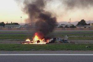 cessna 152 burning